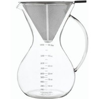 Piccotti 1000 ml Metal Filtreli Cam Kahve Demleme Ekipmanı