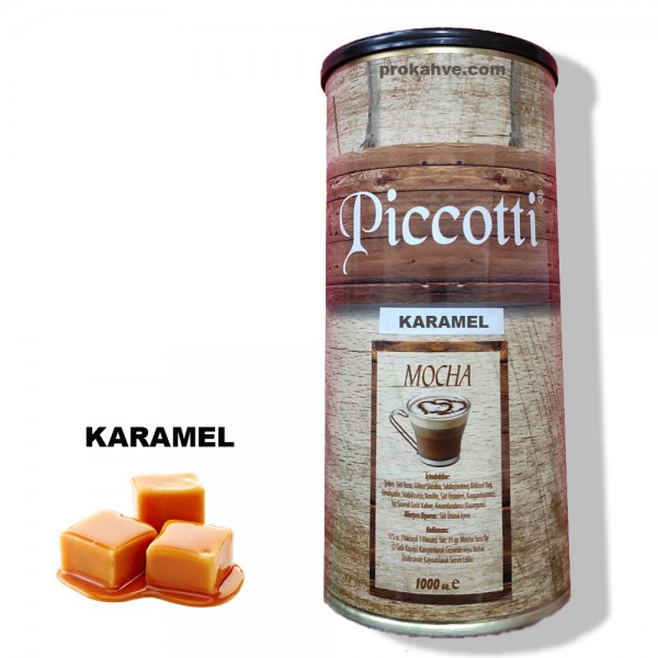 Piccotti Mocha Karamelli 1000 Gr Kutu
