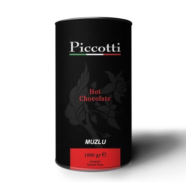 Piccotti Sıcak Çikolata Muzlu 1000 Gr KUTU
