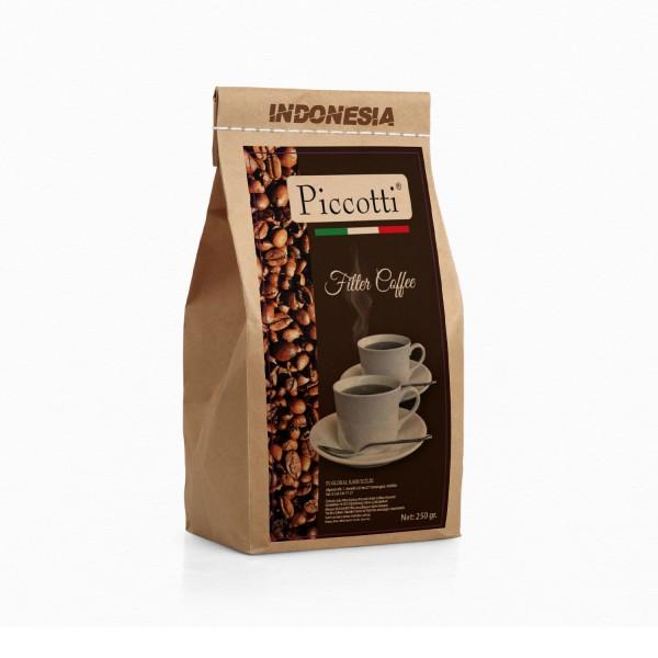 Piccotti Filtre Kahve  Indonesia 250 Gr